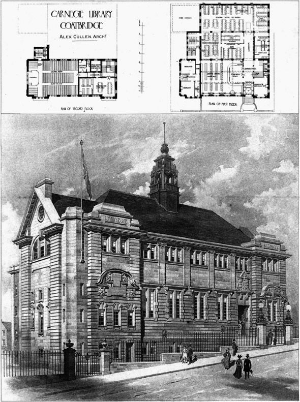 1905 – Carnegie Library, Coatbridge, Lanarkshire, Scotland