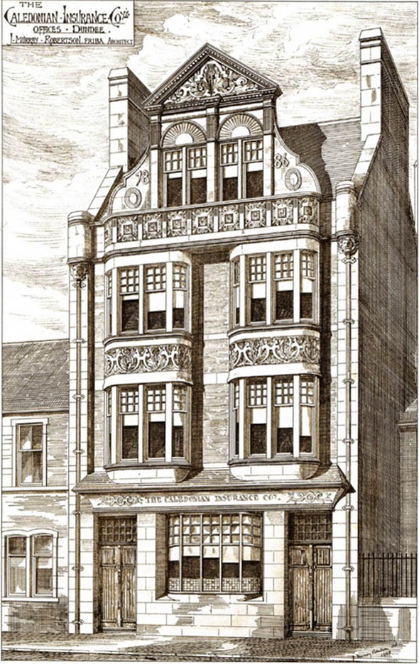 1886 – The Caledonian Insurance Company Offices, Dundee, Scotland