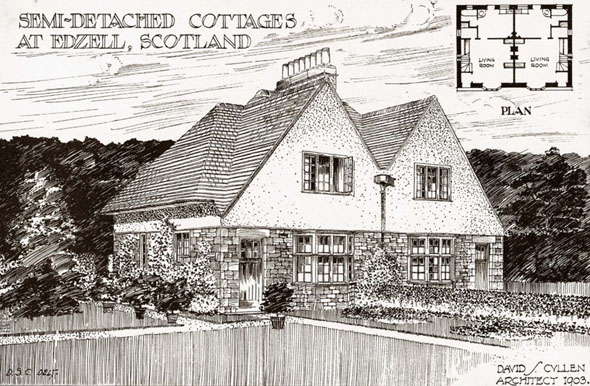 1904 – Semi-Detatched Cottages at Edzell, Angus, Scotland