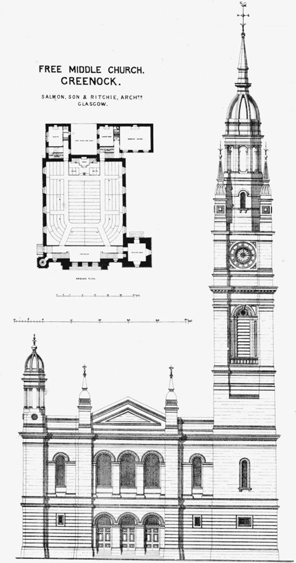 1871 &#8211; Free Middle Church, Greenock, Scotland