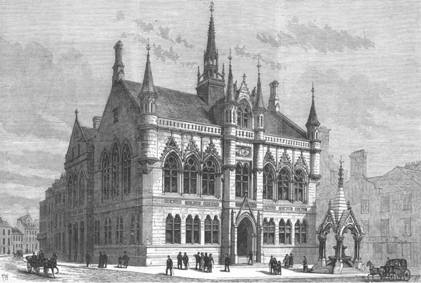 1882 &#8211; New Municipal Buildings, Inverness, Scotland