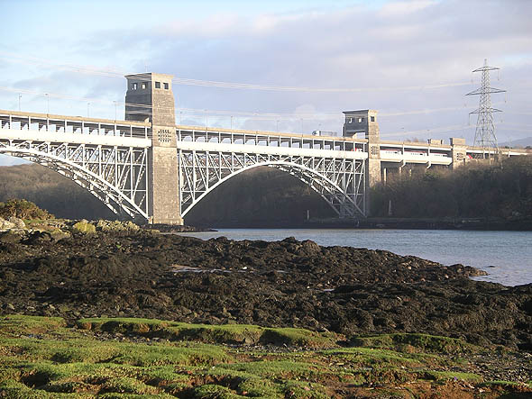 1846 &#8211; Britannia Bridge, Anglesey, Wales