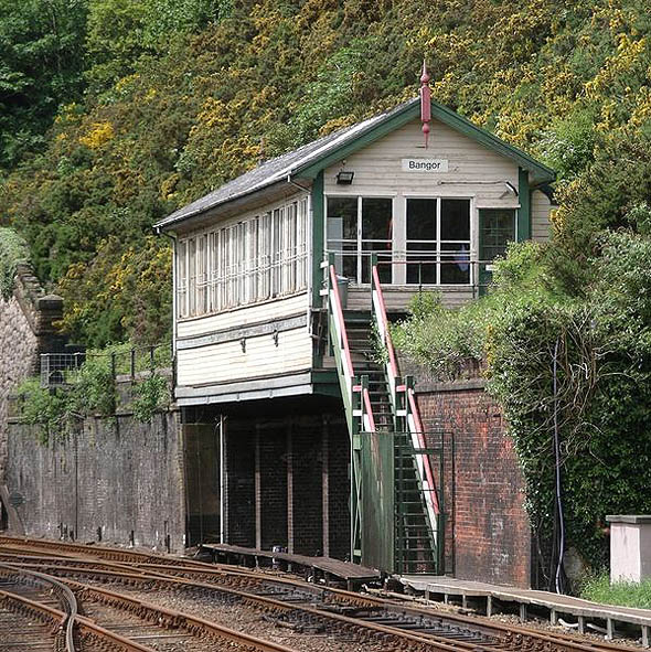 1923 &#8211; Bangor Signalbox, Wales
