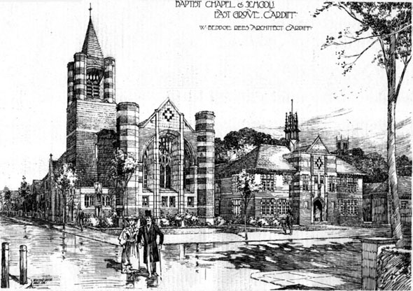 1906 &#8211; Cardiff Chapel &#038; Schools, East Grove, Cardiff