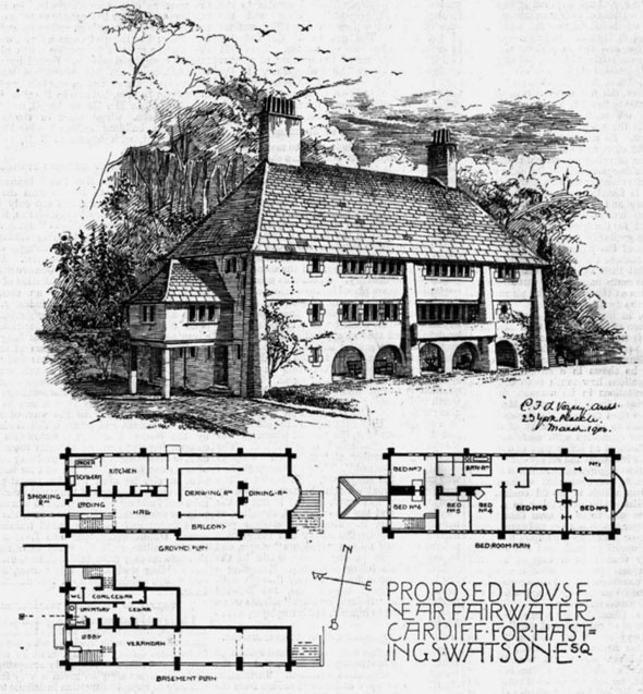 1906 &#8211; Proposed House Near Fairwater, Cardiff