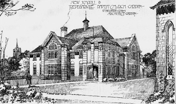 1906 &#8211; New Schools, Tredegarville Baptist Church, Cardiff