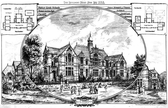 1885 – Higher Grade Schools, Howard Gardens, Roath, Cardiff