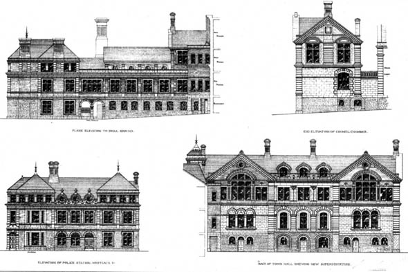 1877 &#8211; Cardiff Municipal Buildings, Wales