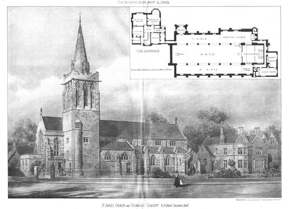 1903 – St.James's Church & Vicarage, Cardiff