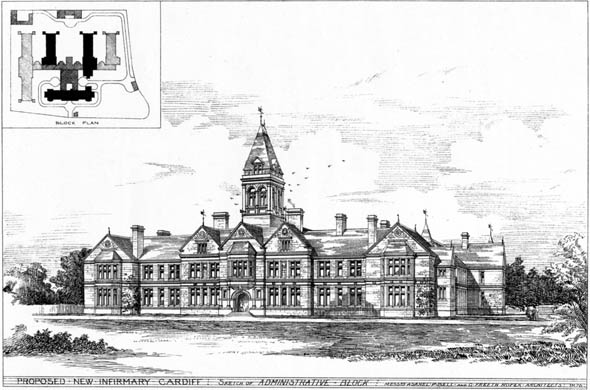 1876 &#8211; Proposed New Infirmary, Cardiff, Wales