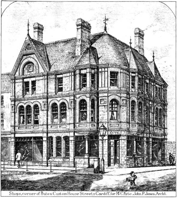 1880 &#8211; Corner of Bute &#038; Custom House Streets, Cardiff