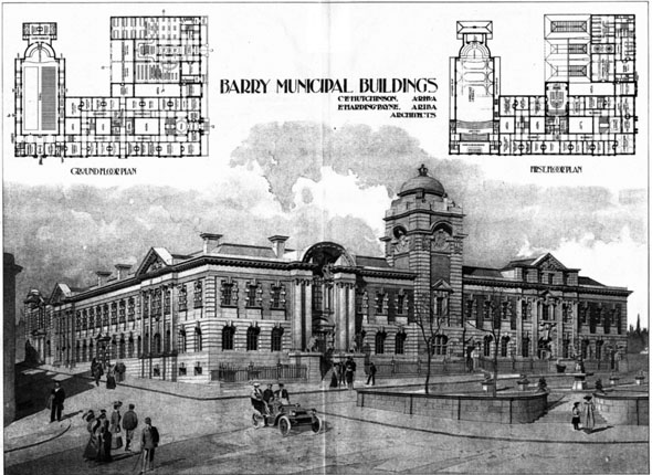 1906 &#8211; Barry Municipal Buildings, Barry, South Wales