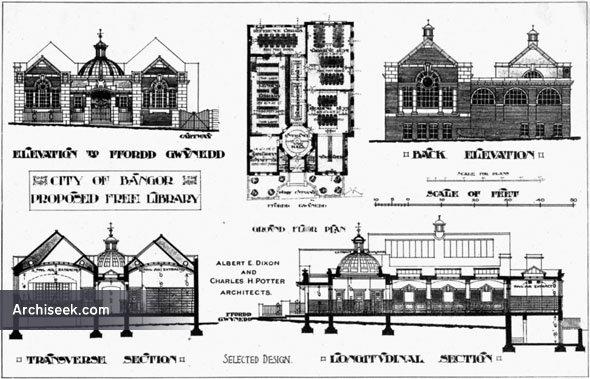 1907 – Bangor Free Library, Wales