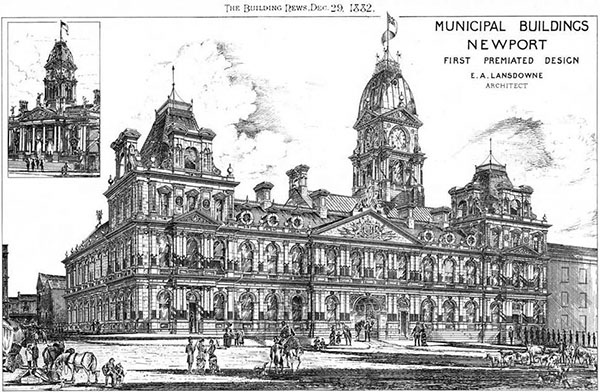 1882 – Designs for Municipal Buildings, Newport