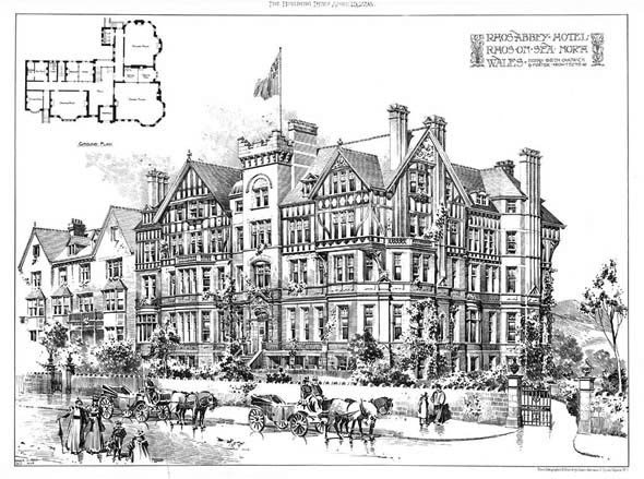 1898 – Rhosabbey Hotel, Rhos-on-sea, Wales