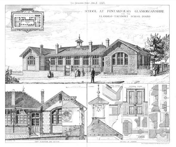 1878 &#8211; School, Pontardulais