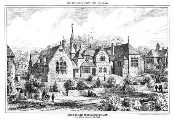 1876 – Board School & Residence, Penarth, Wales
