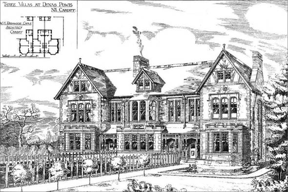 1891 &#8211; Three Villas, Dynas Powis