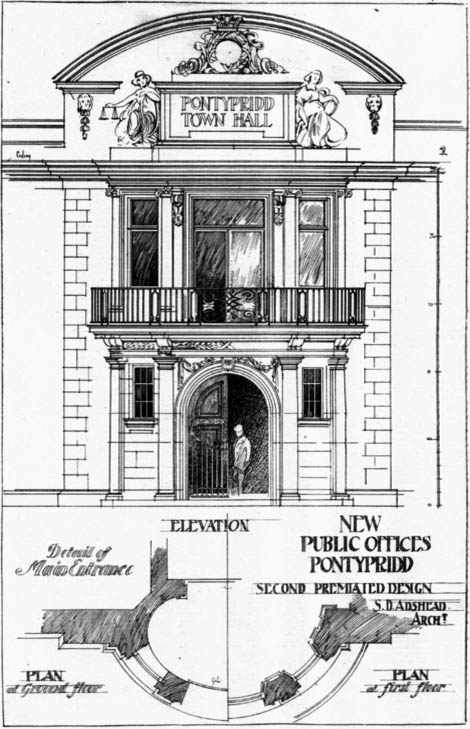 1903 – New Public Offices, Pontypridd, Wales