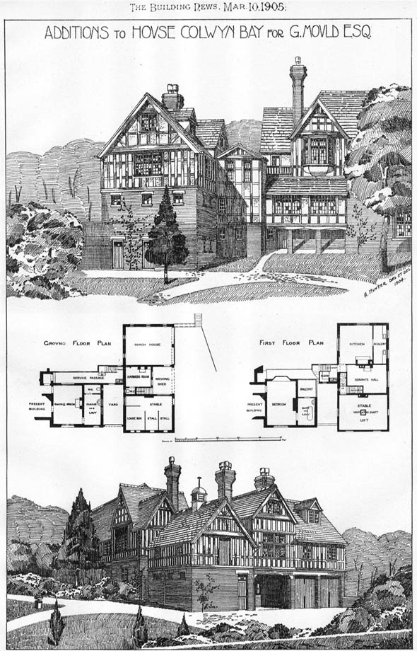 1905 – Additions to House at Colwyn Bay, Wales