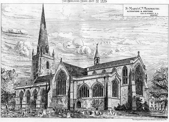 1879 – St. Mary's Church, Monmouth, Wales
