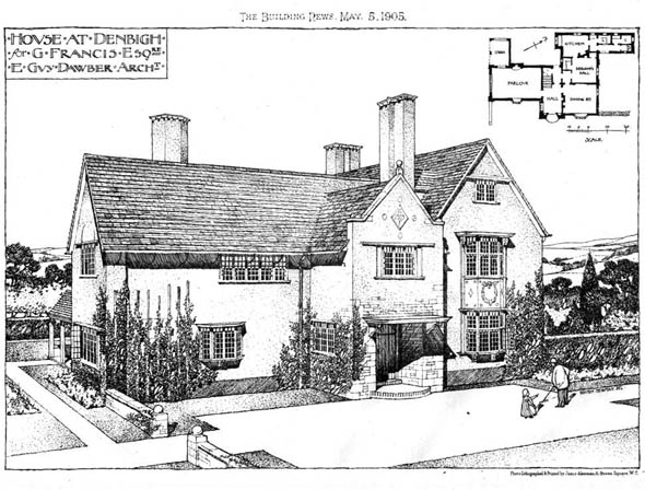 1905 &#8211; House at Denbigh, Wales