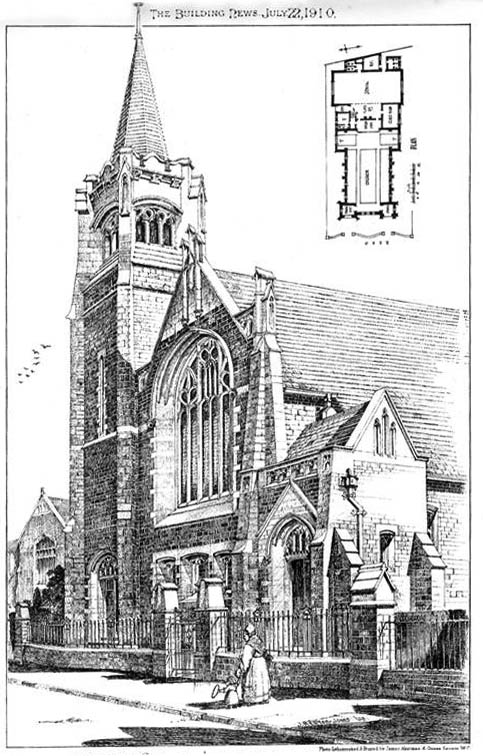 1910 – Presbyterian Church, Abergavenny, Wales