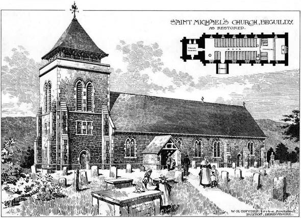 1895 – Saint Michael's Church, Beguildy, Wales