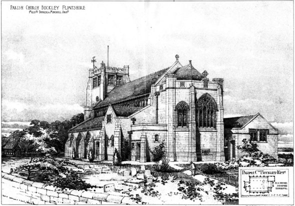 1906 &#8211; Parish Church, Buckley, Wales