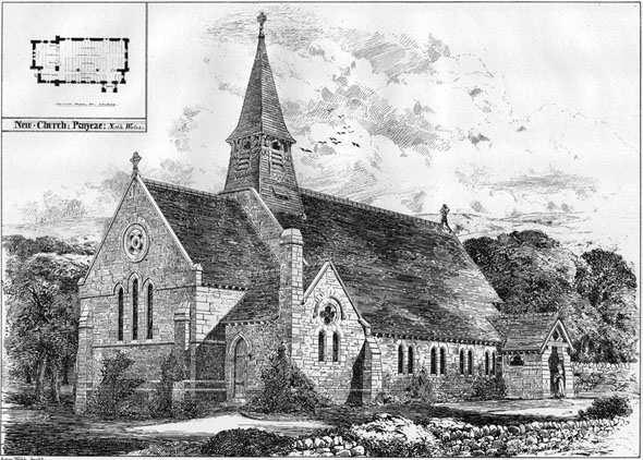 1877 &#8211; New Church at Penycae, North Wales