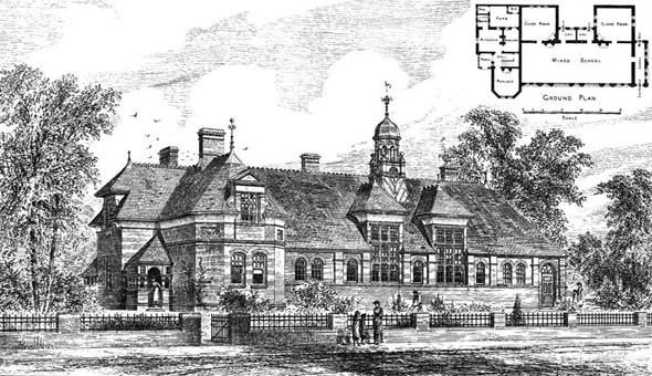 1881 &#8211; New Mixed School, Pencoed, Wales