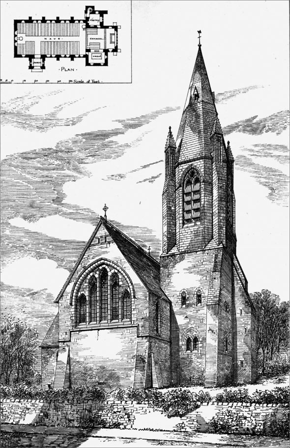 1879 &#8211; Church of St.John the Evangelist, Mold, Flintshire