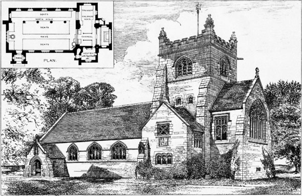 1886 &#8211; Parish Church, Rossett, Denbighshire, Wales