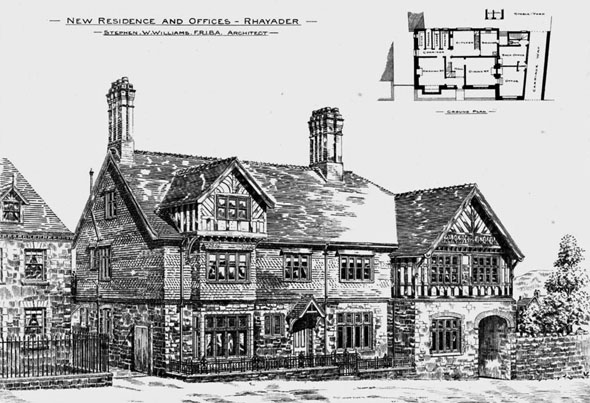 1895 – New Residences & Offices, Rhayader, Wales