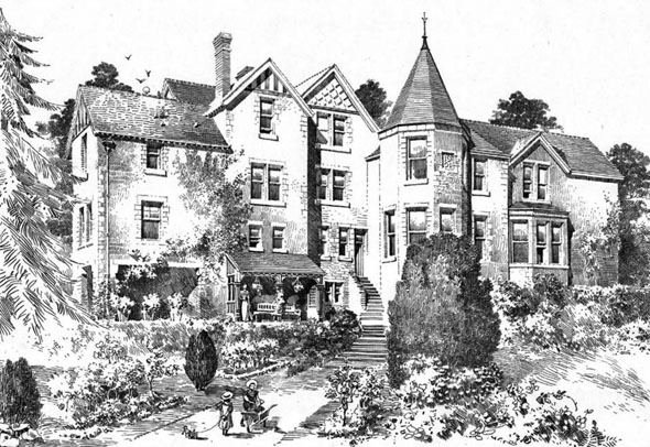 "1901 – Additions to ""Plas Nant-y-Glyn"", Colwyn Bay, Wales"
