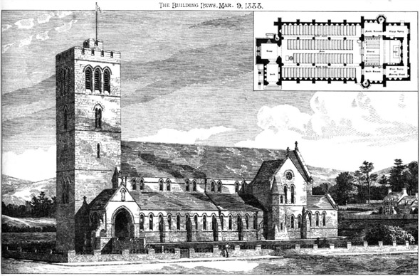 1888 &#8211; St. Peter&#8217;s Church, Pentre, Ystrad, Glamorganshire