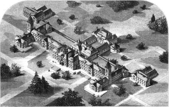 1864 &#8211; Lunatic Asylum, Carmarthen, Wales