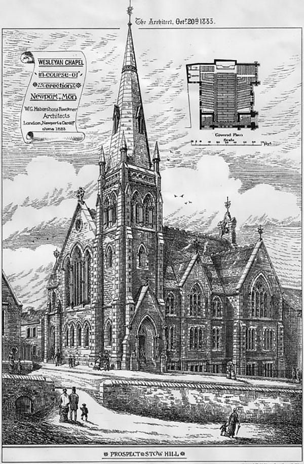 1883 – Wesleyan Chapel, Stow Hill, Newport, Wales
