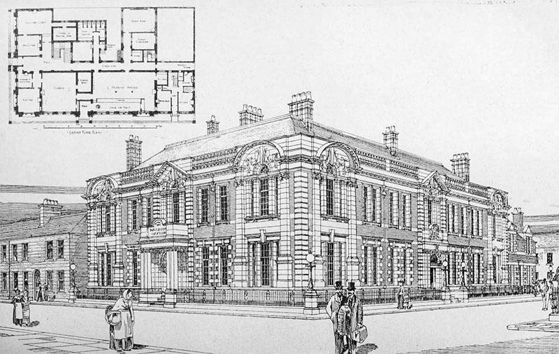 1901 – Unbuilt Proposal for Harbour Offices, Swansea