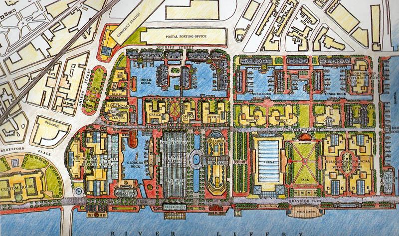 1988 – Unbuilt Dublin – Dublin Docklands Plan