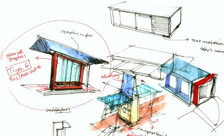 2001 &#8211; Unbuilt Dublin &#8211; O&#8217;Connell Street Kiosks