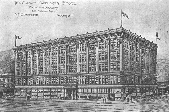 1907 &#8211; Hamburger Department Store, Los Angeles, California