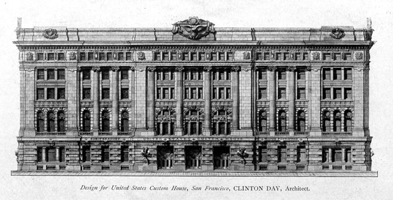 1905 – Design for Customs House, San Francisco