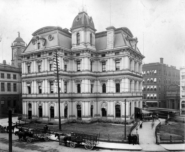 1882 &#8211;  Courthouse and Post Office, Hartford, Connecticut