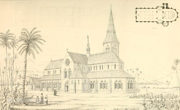 1867 – Design for Honolulu Cathedral