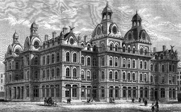 1873 &#8211; New Goverment Buildings, Chicago, Illinois