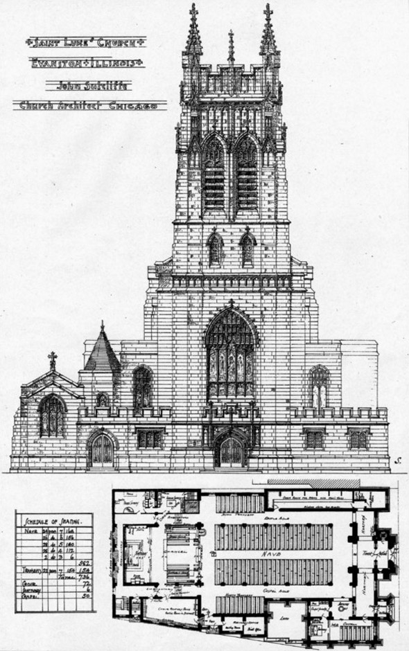 1906 &#8211; St. Lukes Church, Evanston, Illinois