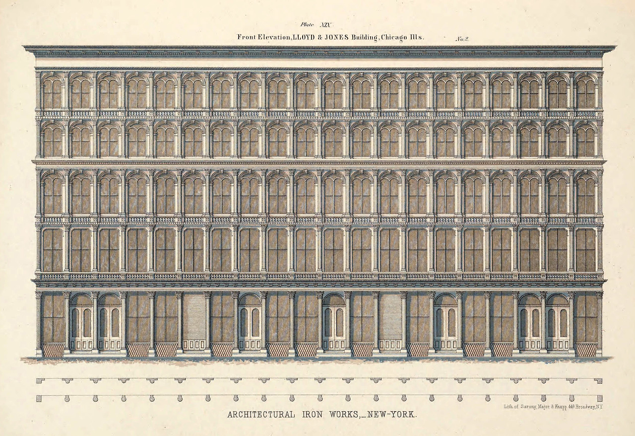 1865 – Lloyd & Jones Building, Chicago, Illinois