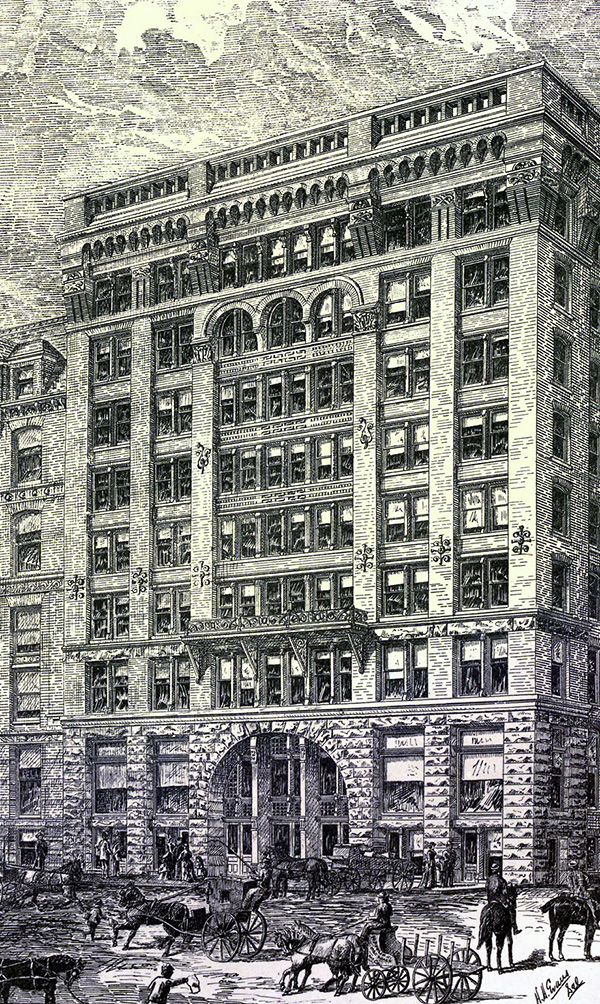 1884 – The Adams Express Building, Chicago