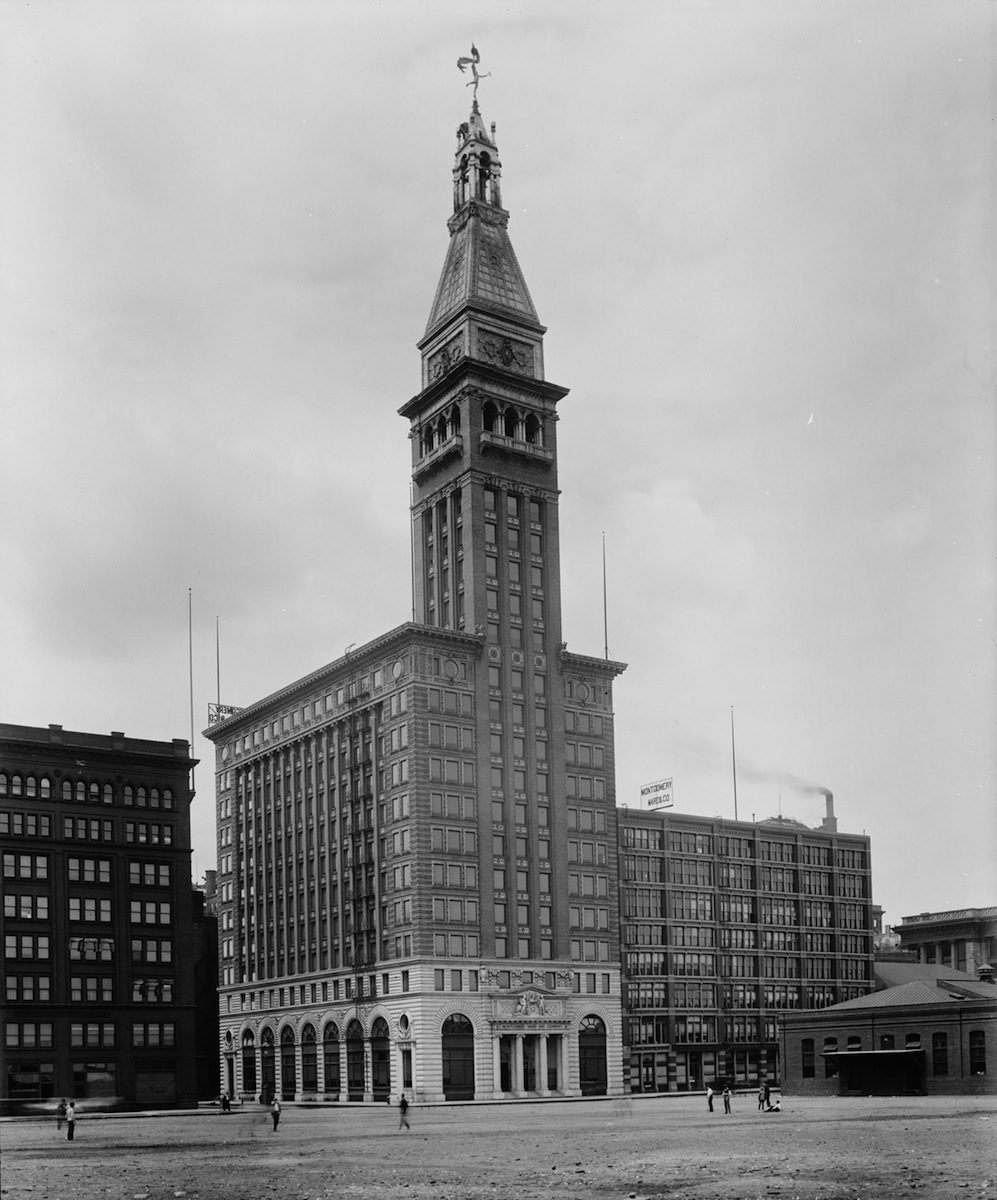 1898 – Montgomery Ward Building, Six North Michigan Ave., Chicago